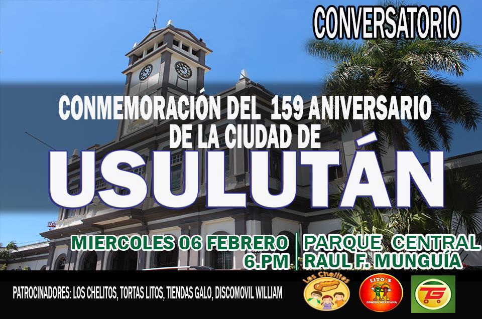 159 años de la Ciudad de Usulután con un conversatorio titulado «Tiempos antiguos en la ciudad de Usulután